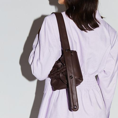 Strap Bun Bag S - Chocolate