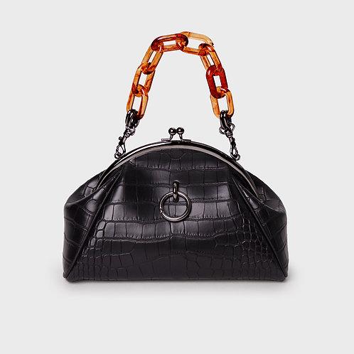 11° momo bag CROC BLACK - ring [SAMO ONDOH]
