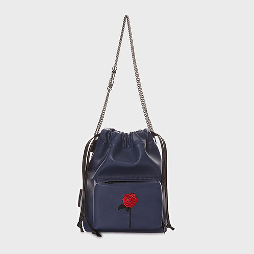 23° POCKET Nina bag NAVY - BLACK ROSE [SAMO ONDOH]