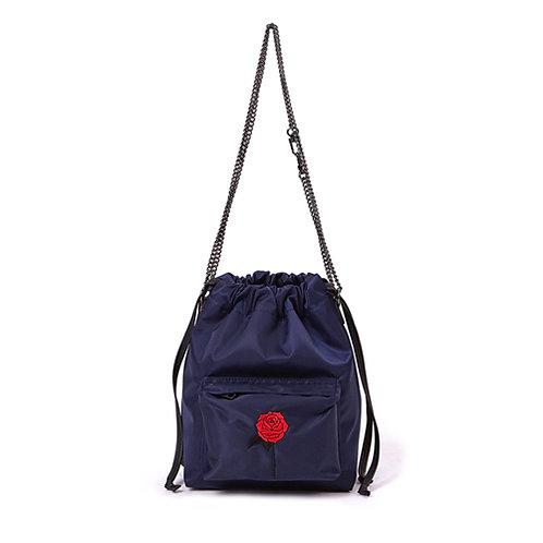 9° Nina bag NYLON NAVY - BLACK ROSE