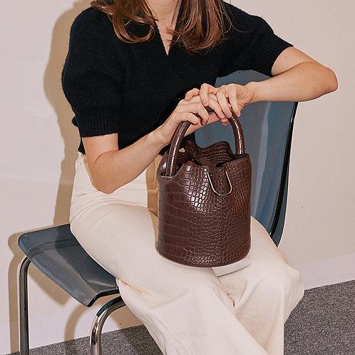 11° Hannah bag - All Croc Brown [SAMO ONDOH]