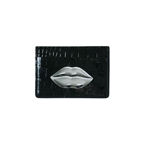 SAMO ONDOH LEATHER° CD CROC BLACK - SILVER LIP SUL