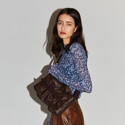 Strap Bun Bag M - Chocolate