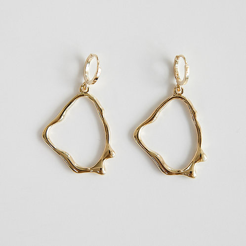 zudritt crema gold hoop earrings
