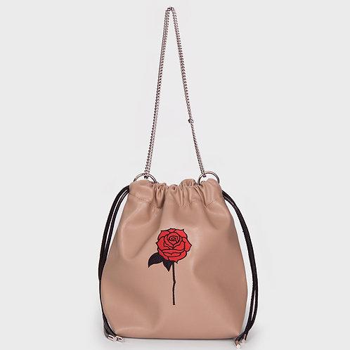 11° Nina bag BEIGE - BLACK ROSE [SAMO ONDOH]