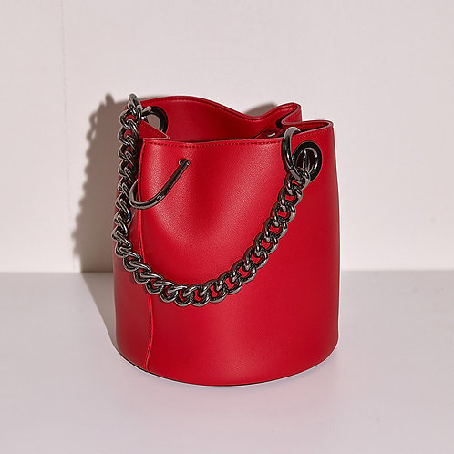 11° Hannah bag Red with chrome chain [SAMO ONDOH]