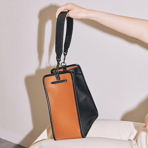 11° Square bag Black - Brown [SAMO ONDOH]