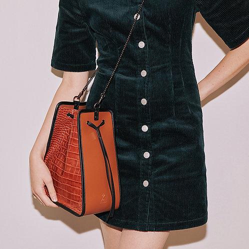 11° Square bag Croc Brown - Brown [SAMO ONDOH]