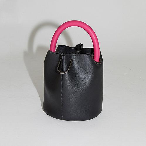 20° Hannah bag - Black with Magenta handle [SAMO ONDOH]