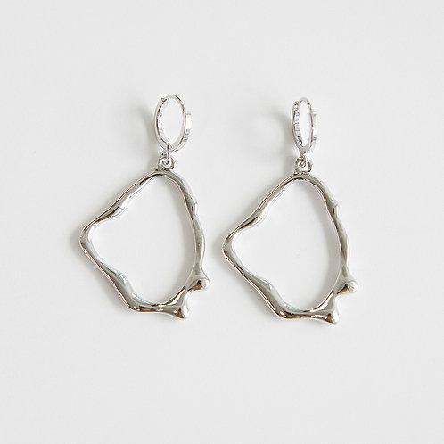 zudritt crema silver hoop earrings