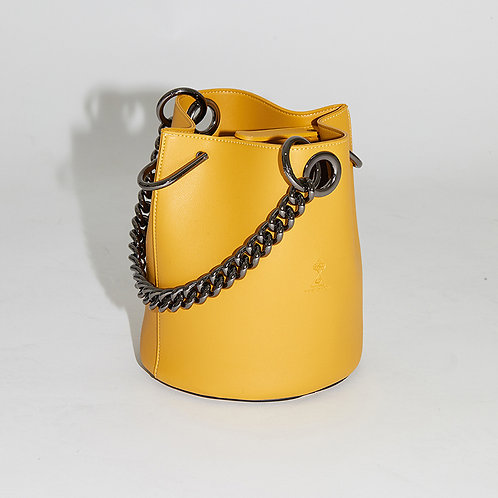 20° Hannah bag Yellow with chrome chain [SAMO ONDOH]