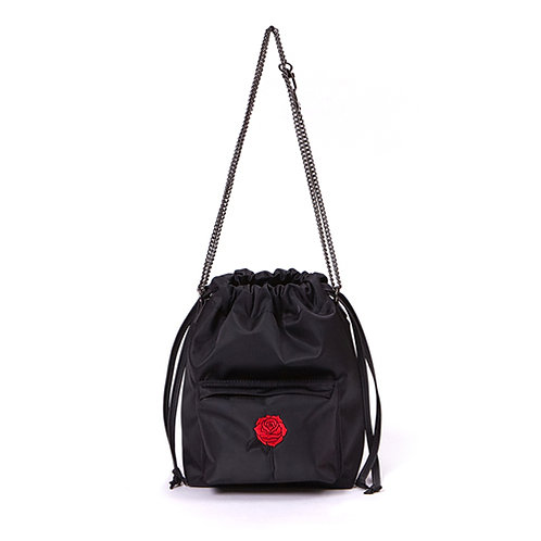 9° Nina bag NYLON BLACK - BLACK ROSE