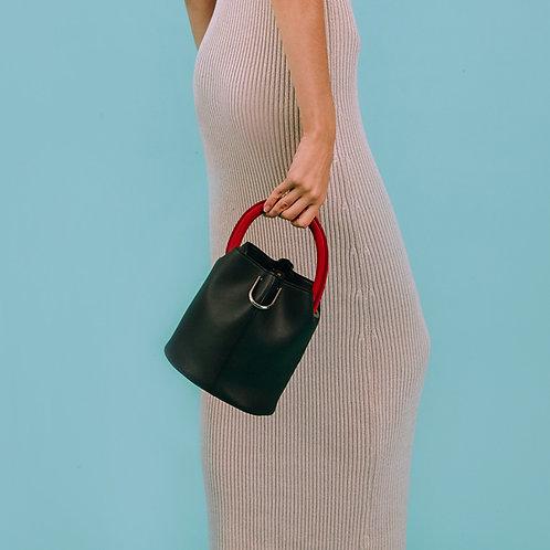 23° Hannah bag - BLACK WITH RED HANDLE [SAMO ONDOH]