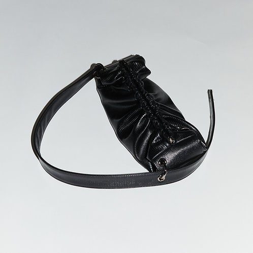 baguette Bag M - Lizard black
