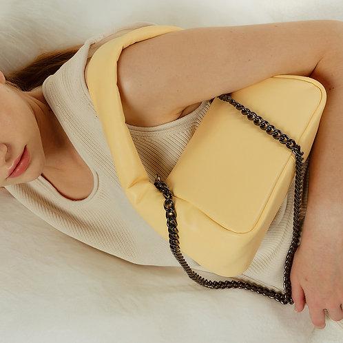 mug Bag M lambskin - lemon 10 SAMO ONDOH