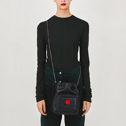 23° POCKET Nina bag BLACK - BLACK ROSE [SAMO ONDOH]