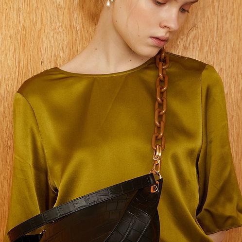 zudritt color chain (m) - Olive 78.5cm