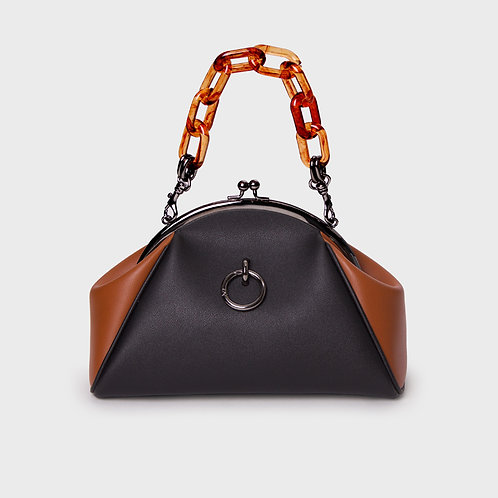 11° momo bag BLACK & BROWN - ring [SAMO ONDOH]