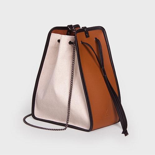 11° Canvas bag IVORY - BROWN [SAMO ONDOH]