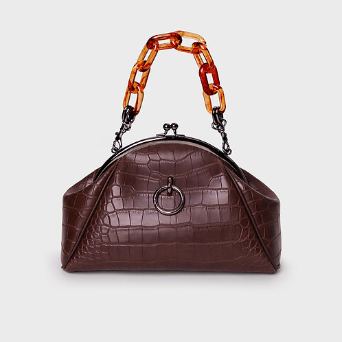 11° momo bag CROC BROWN - ring [SAMO ONDOH]
