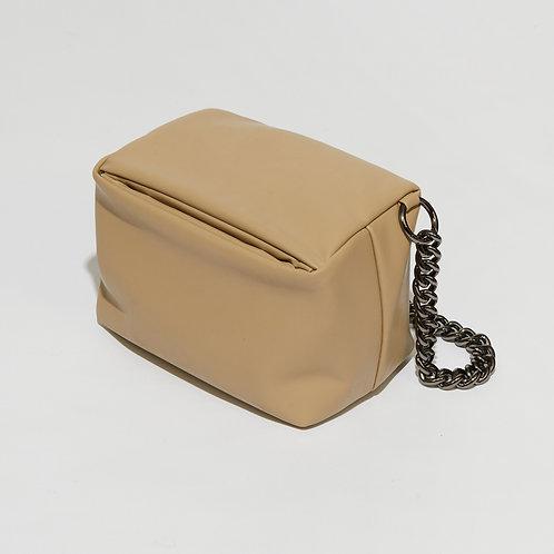 box bag M lambskin - sand beige SAMO ONDOH