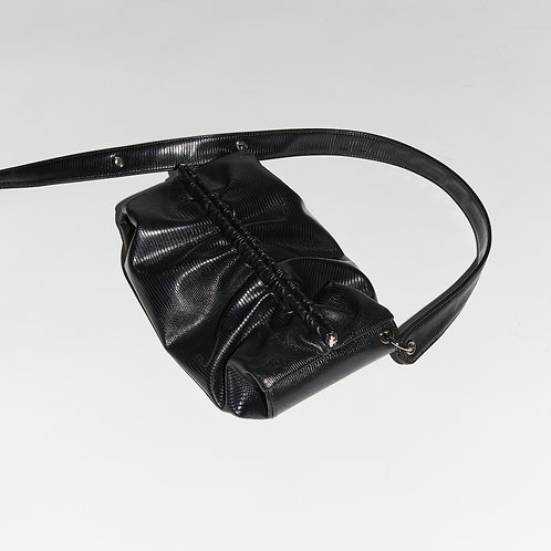 Strap Bun Bag M - Lizard Black
