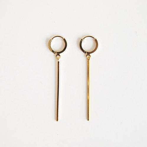 zudritt line drop hoop earrings