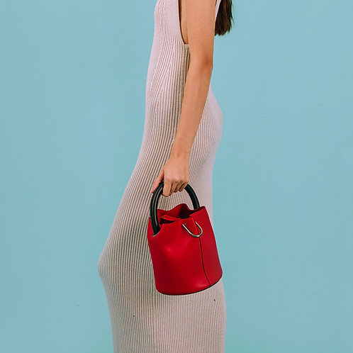 23° Hannah bag - RED WITH BLACK HANDLE [SAMO ONDOH]