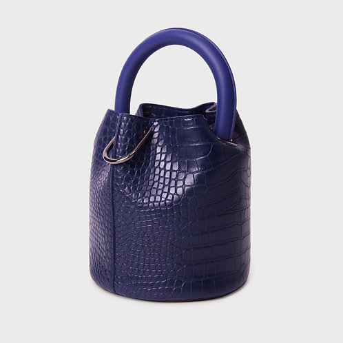 11° Hannah bag - CROC NAVY WITH NAVY HANDLE [SAMO ONDOH]