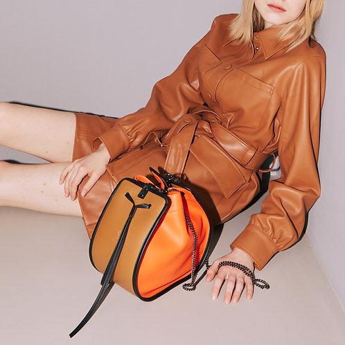 11°  Round bag Orange Sand beige [SAMO ONDOH]