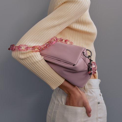 slim box bag M lambskin - pale pink SAMO ONDOH
