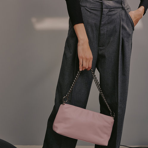 dough bag M lambskin - pale pink SAMO ONDOH