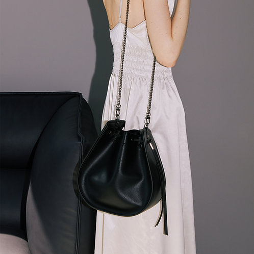 11°  Round bag Black [SAMO ONDOH]