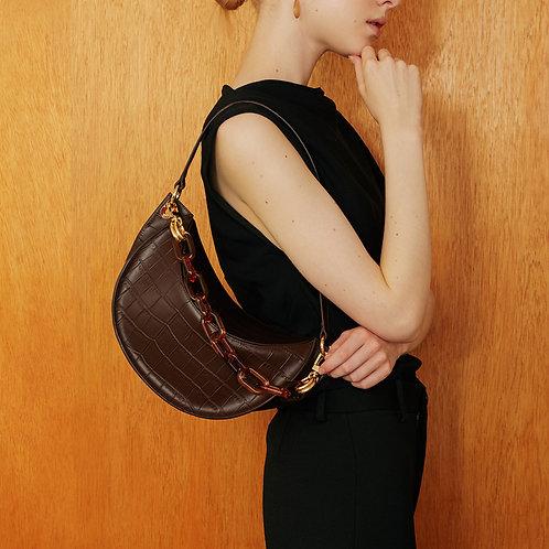 zudritt cc Bag Croc Cocoa Brown
