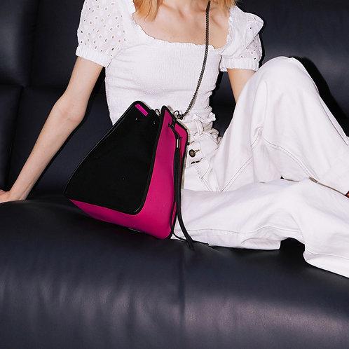 11° Canvas bag Black Magenta [SAMO ONDOH]