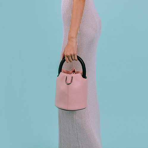 23° Hannah bag - PINK WITH BLACK HANDLE [SAMO ONDOH]