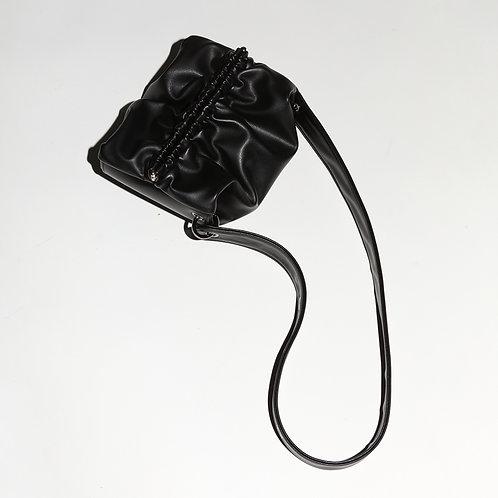 Strap Bun Bag S - Black
