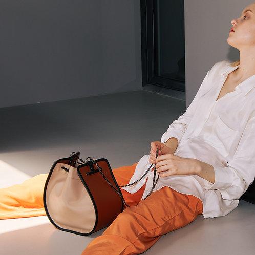 11°  Round bag Beige Brown [SAMO ONDOH]