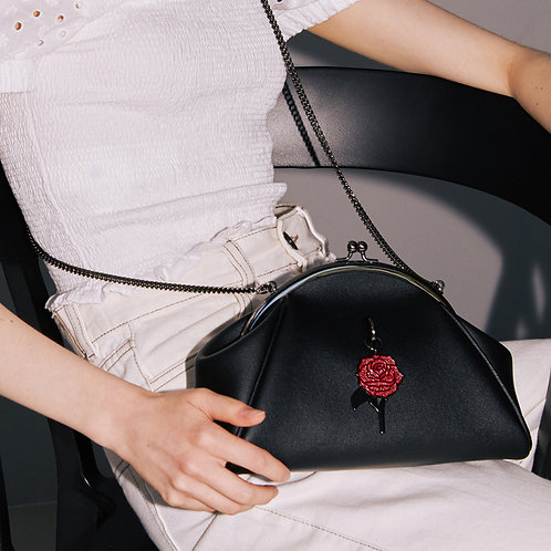 11° momo bag Black -Metal black rose [SAMO ONDOH]