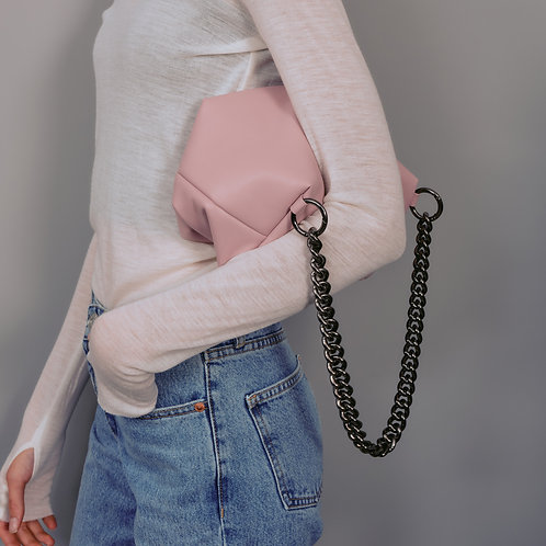 box bag M lambskin - pale pink SAMO ONDOH