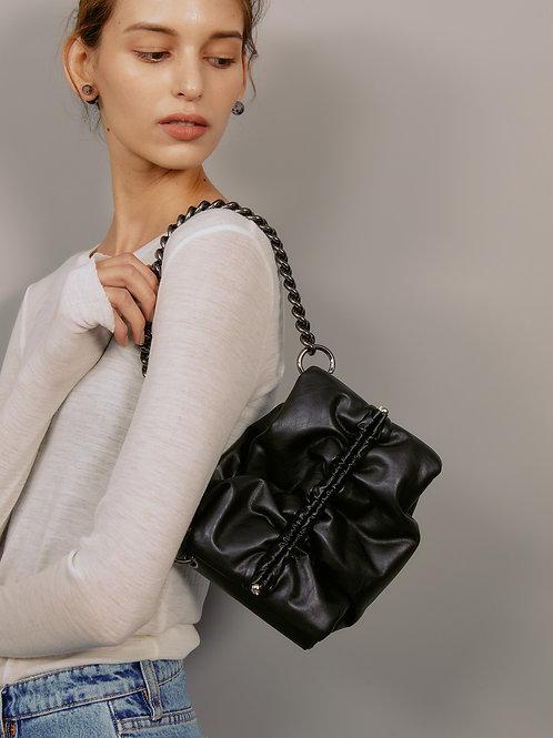 Bun bag S lambskin - black SAMO ONDOH