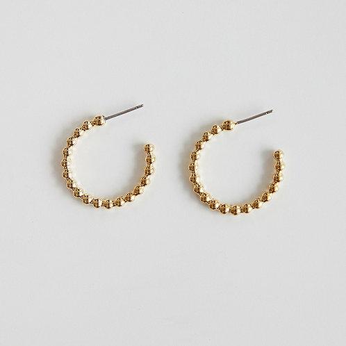 zudritt beeded gold hoop earrings