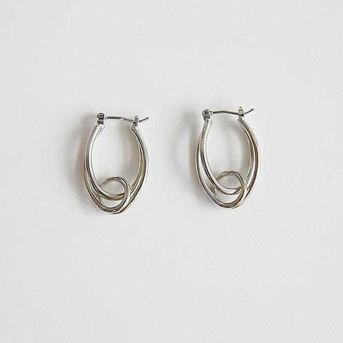 zudritt tangled silver earrings