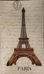 Eiffel Tower Over Script P-2