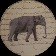 Elephant Facing Right A-73
