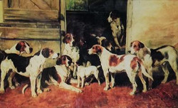 Fox Hounds with Terrier C-113