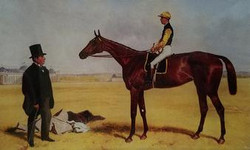 Man in Top Hat with Jockey H-211