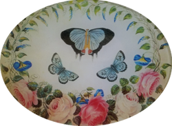 Blue Butterflies with Roses B-14