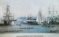 New York Harbor in Blue M-116