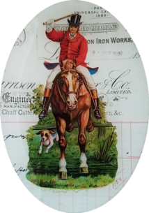 Die Cut Huntsman on Horse H-240